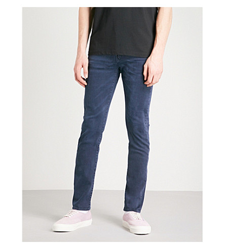 PS BY PAUL SMITH Distressed slim-fit skinny jeans (Navy