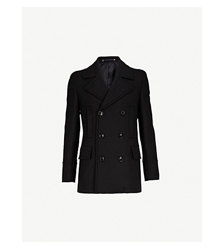 PS BY PAUL SMITH Double-breasted wool-blend peacoat (Navy