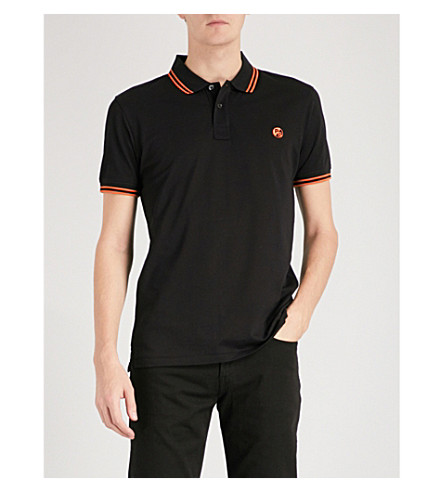 PS BY PAUL SMITH Logo-embroidered cotton-piqué polo shirt (Black