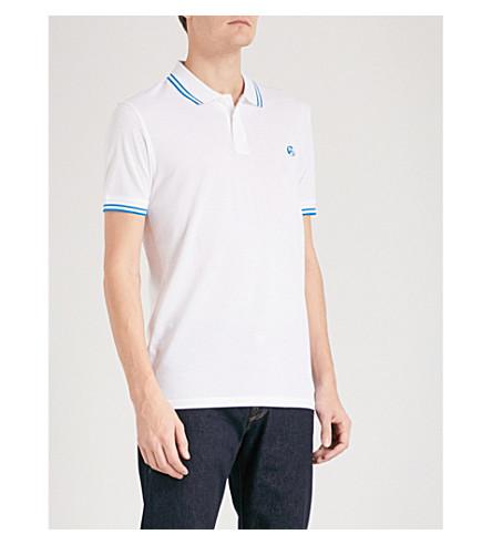 PS BY PAUL SMITH Logo-embroidered cotton-piqué polo shirt (White