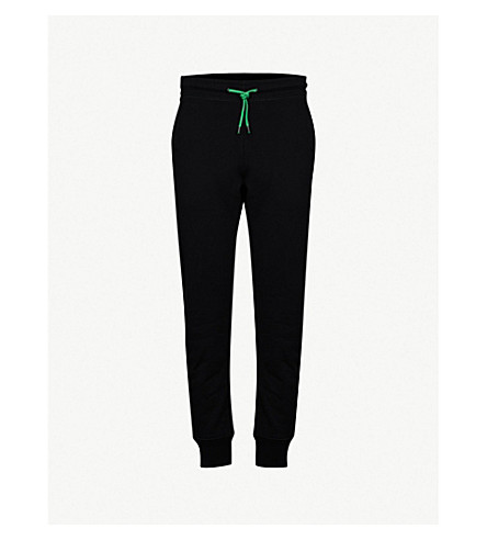 PS BY PAUL SMITH Contrasting-eyelet cotton-jersey jogging bottoms (Black