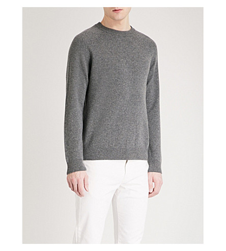 PS BY PAUL SMITH Raglan-sleeve lambswool jumper (Grey