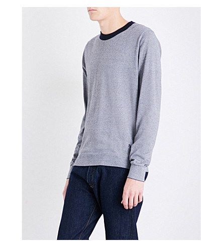 PS BY PAUL SMITH Striped cotton jumper (Blue