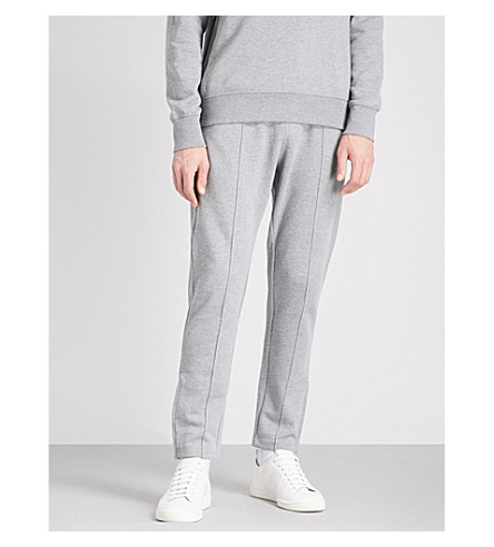 PS BY PAUL SMITH Seam-front cotton-jersey jogging bottoms (Grey