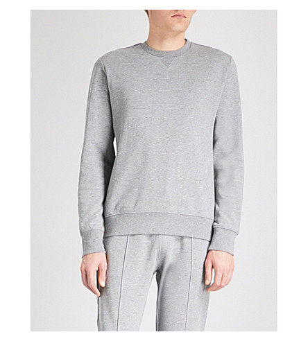 PS BY PAUL SMITH Marled cotton-jersey sweatshirt (Grey
