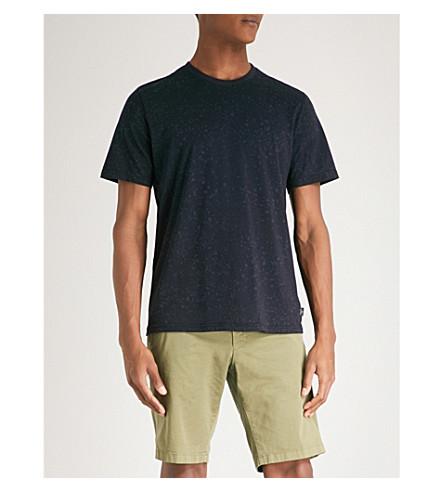 PS BY PAUL SMITH Paint splatter-print cotton-jersey T-shirt (Navy