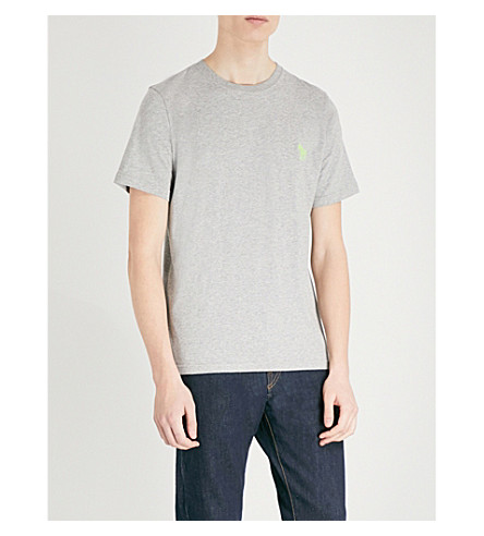 PS BY PAUL SMITH Zebra-embroidered cotton-jersey T-shirt (Grey