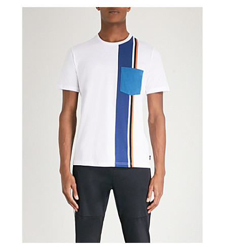 PS BY PAUL SMITH Striped cotton-jersey T-shirt (White
