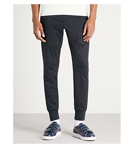 PS BY PAUL SMITH Tapered jersey jogging bottoms (Navy