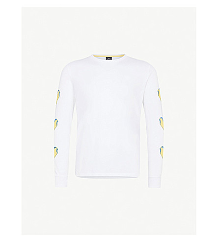 PS BY PAUL SMITH Ice Lolly cotton-jersey top (White