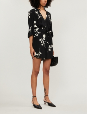 Penny crepe playsuit