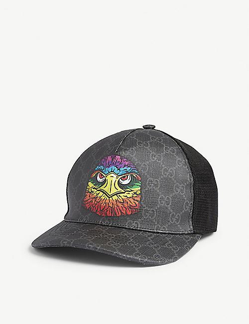 9d1368ecc60 GUCCI - Eagle-appliquéd canvas baseball cap