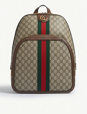 d4f745f0862c GUCCI GG Supreme canvas and leather backpack