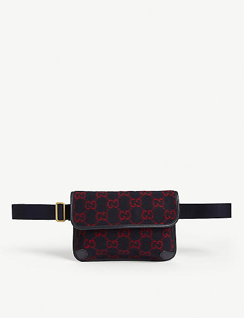 GUCCI GG wool belt bag