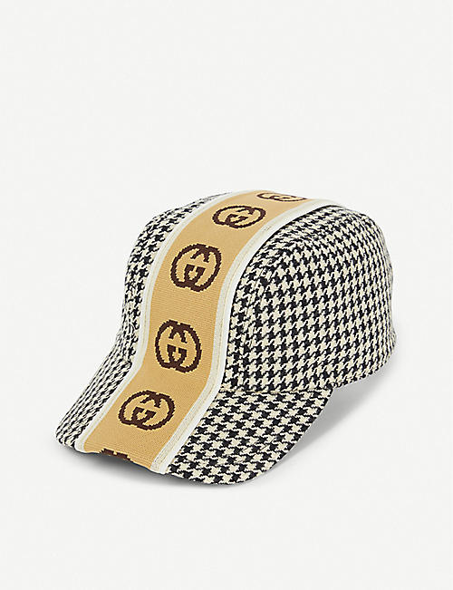 GUCCI Houndstooth wool baseball cap