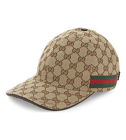 GUCCI GG Web stripe baseball cap (Cocoa
