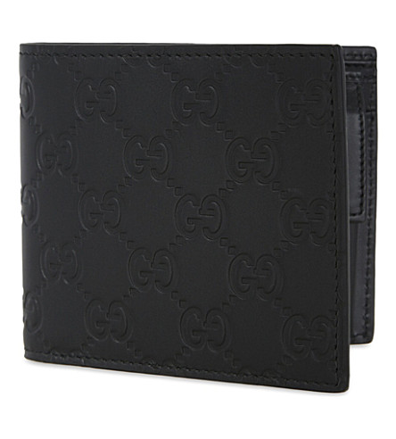GUCCI GG leather billfold wallet (Black