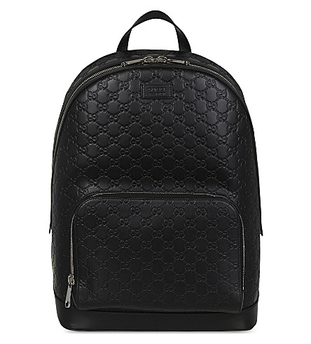 GUCCI GG Guccissima leather backpack (Black