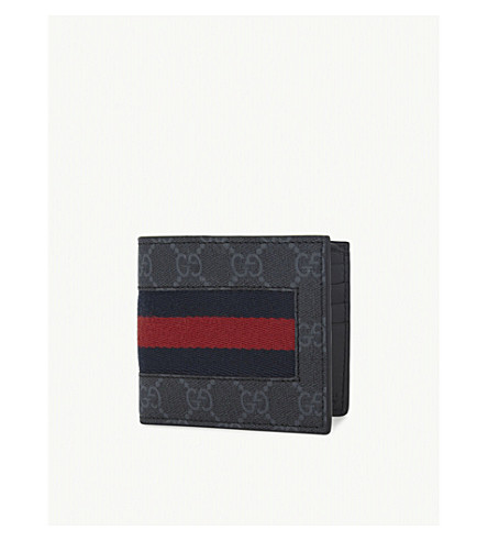 GUCCI Web GG supreme billfold wallet (Black