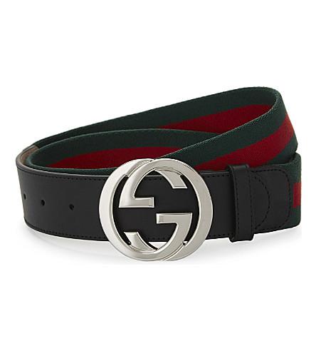 GUCCI Web stripe belt (Grren