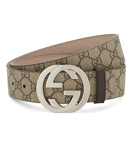 GUCCI GG Supreme belt (Beige