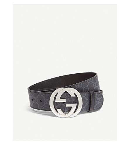 GUCCI GG Supreme belt (Black