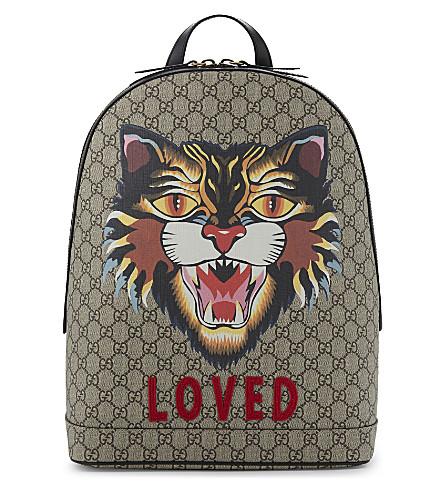 GUCCI Bestiary GG Supreme canvas backpack (Beige