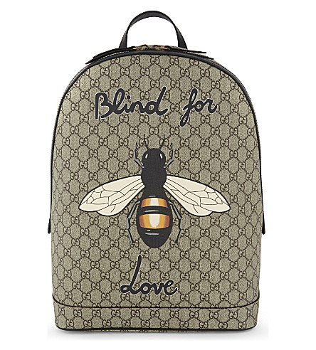 GUCCI Bee print GG Supreme backpack (Beige. PreviousNext clearance prices  e0972 ... d07ec4774e