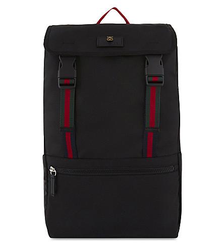 GUCCI 技术帆布背包 (黑色