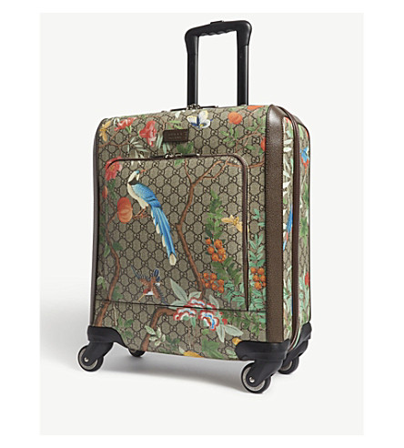 GUCCI GG Supreme four-wheel cabin suitcase (Beige