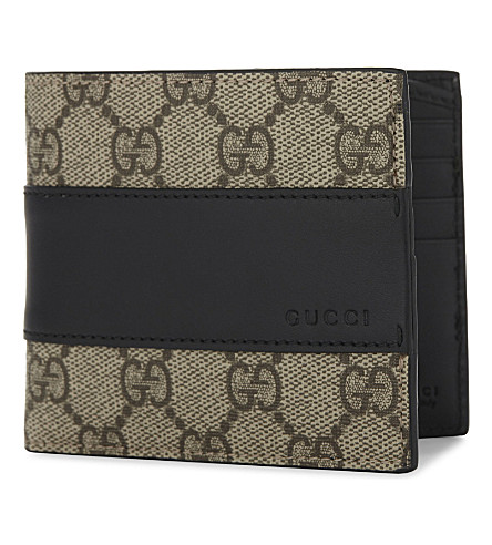 GUCCI Eden Supreme canvas and leather wallet (Beige