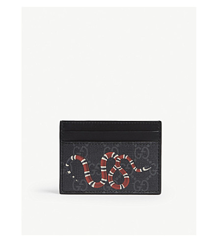 GUCCI Bestiary leather card holder (Black