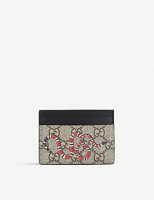 Card holders mens bags selfridges shop online gucci bestiary leather card holder colourmoves
