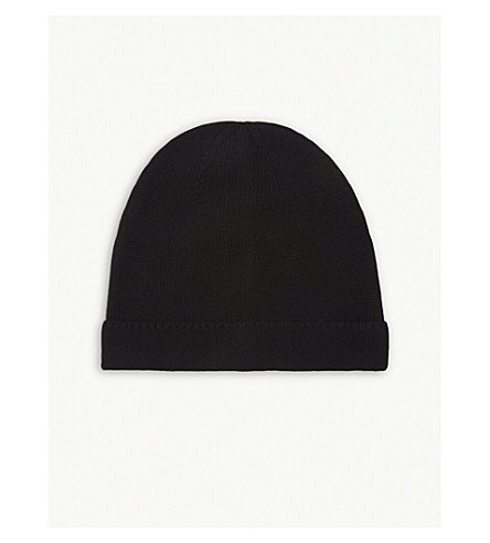 GUCCI Ribbed wool beanie (Black