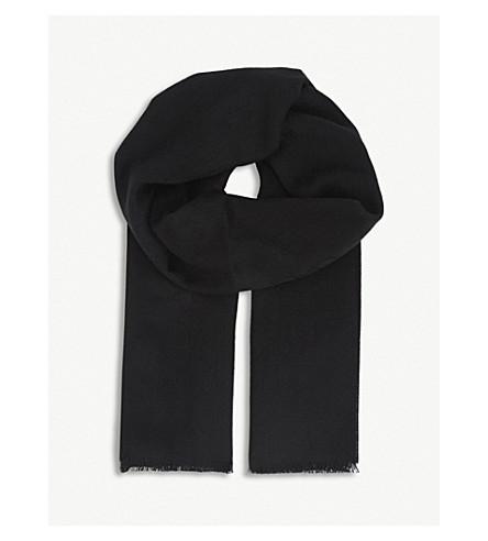 GUCCI Logo cashmere scarf (Black