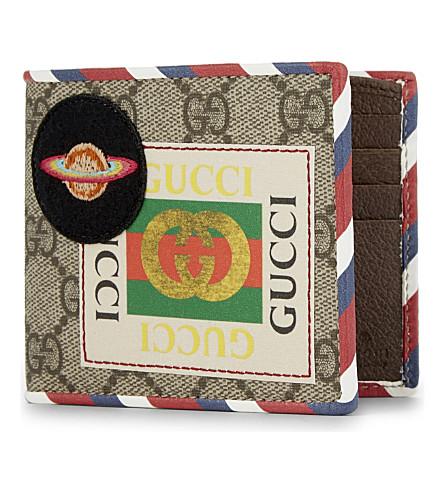 GUCCI Courrier supreme canvas wallet (Tan