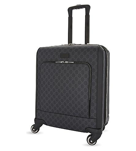 GUCCI Four wheel GG Supreme canvas cabin case 50cm (Black
