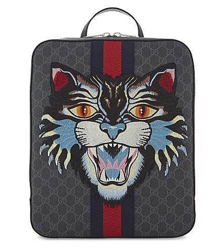 GUCCI GG Lion Backpack (Black