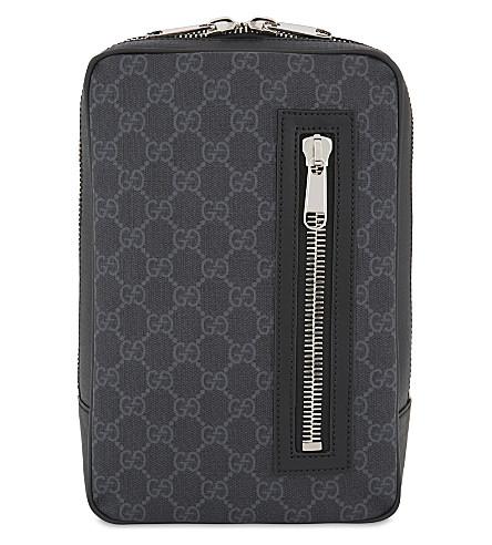 d0882e6cc51 GUCCI Web stripe Supreme GG canvas belt bag (Black