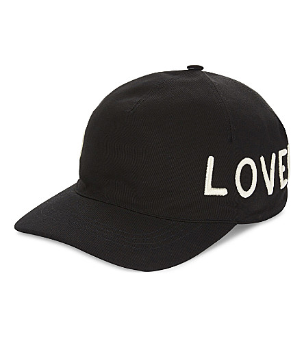 GUCCI 'Loved' cotton canvas baseball cap (Black