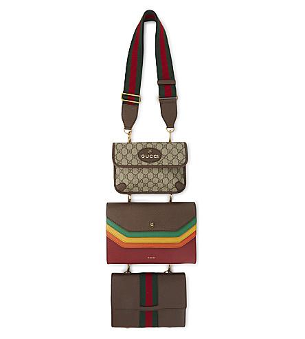 GUCCI Totem three-piece leather shoulder bag set (Multi