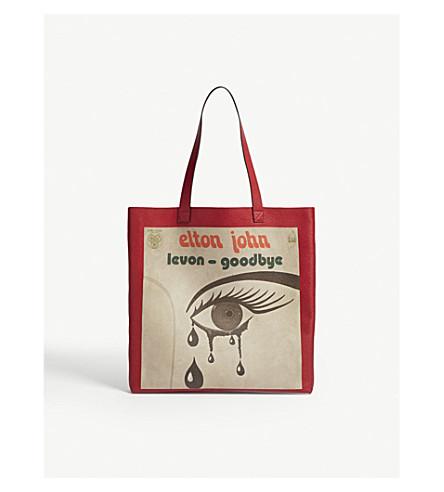 GUCCI Elton John large leather tote bag (Red