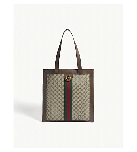 ... GUCCI Ophidia GG Supreme medium tote (Tan+brown. PreviousNext f34480499de87