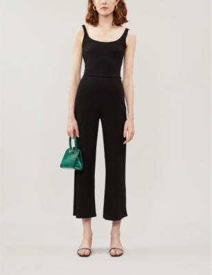 Rylee cropped stretch-jersey jumpsuit