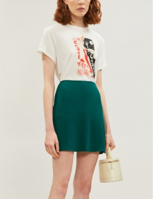Tamara crepe mini skirt