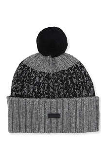 FRED PERRY Twisted yarn beanie