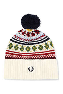 FRED PERRY Fair Isle beanie