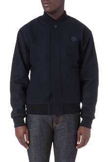 FRED PERRY Melton wool-blend bomber jacket