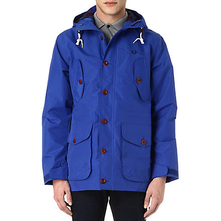 FRED PERRY Classic hooded parka coat (Regal