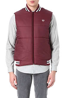 FRED PERRY Zip-through quilted gilet